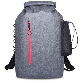 20L открытый речной поход мешок сухой Сумка на двух ремнях ремни пакет для воды водонепроницаемый плавательный мешок для дрифтинга каяк рюкз...