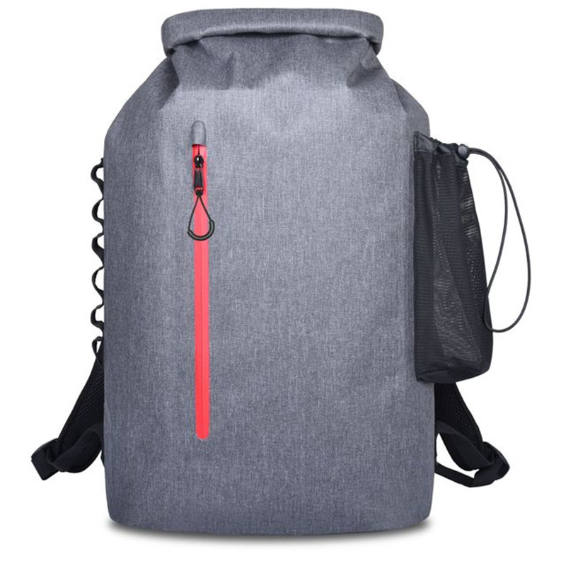20L Outdoor River Trekking Bag Dry Bag Double Shoulder Straps Water Pack Swimming Waterproof Bag for Drifting Kayak Backpack