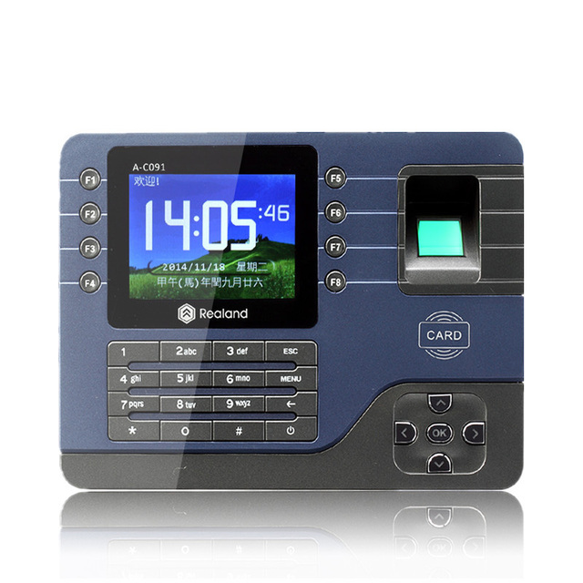 3.2 TFT fingerprint time attendance system biometric time recording  Digital Electronic Portuguese Voice English Reader Machine