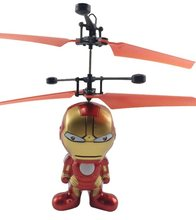 Superhero RC Mini Drone LED Linght Terbang Berkedip Helikopter Tangan Pengendali RC Toys Minion Induksi Drone Helikopter Quadcopter Hadiah(China)