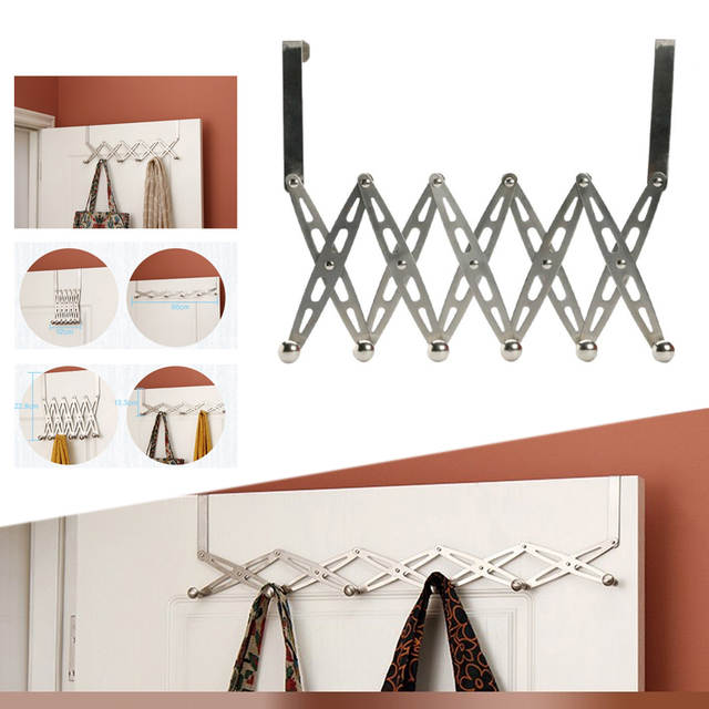 Online Shop 6 Hooks Stainless Steel Folding Clothes Storage Hanger