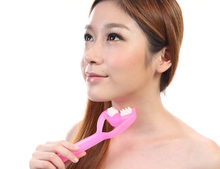 Magic Oblique Mouth Thin Face Massage Double Row Wheel Roller Beauty Massager Lymphatic Tool Health Therapy