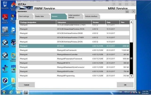 2019.05 ISTA/D 4.17 ISTA/P 3.66 Para BMW ICOM Software HDD 500 gb Multi-língua Com engenheiros de Programação do windows 7