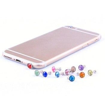 100pcs Universal 3.5mm Diamond Dust Plug Cell Phone Earphone Plug For iPhone 6 5s Samsung HTC Sony Headphone Jack Stopper