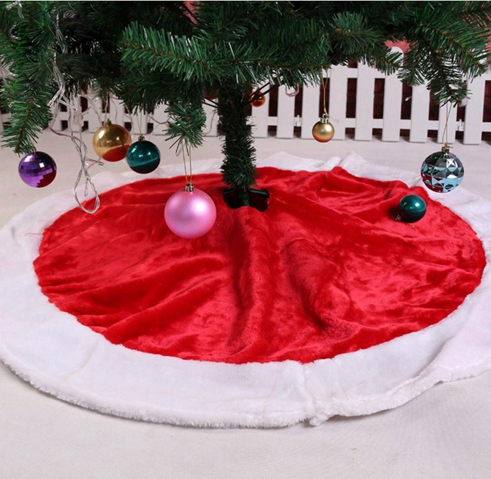 nuevo estilo de vacaciones de navidad de santa claus rojoblanco senta falda del rbol de navidad cm decoracin de navidad