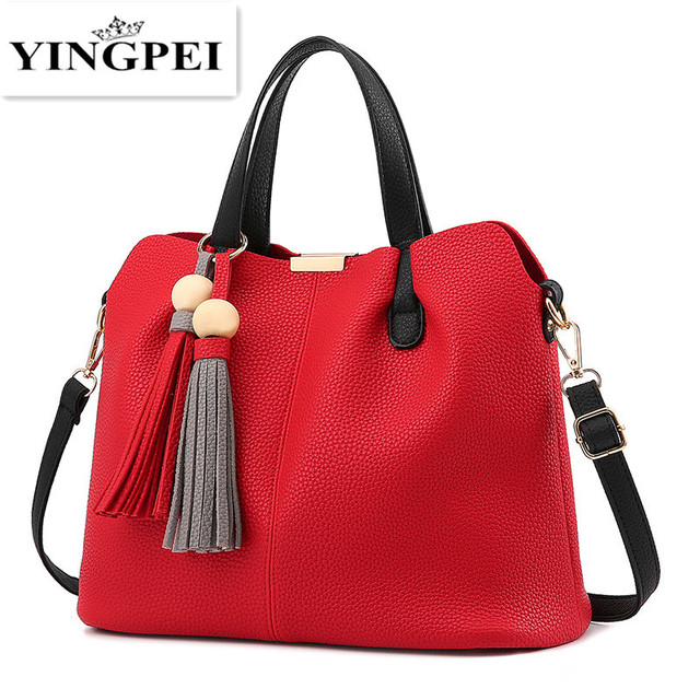 2017 women messenger bag luxury handbags high quality bags designer purses and handbags crossbody bags famous brand Tassel Black