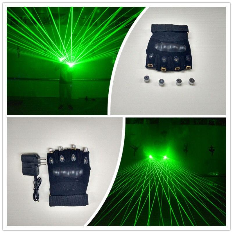 Nový design velkoobchodní cena dj 4ks zelené laserové rukavice pro vánoční bar party laserman show