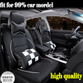 ems hot sales Luxury Leather PU leather Car Seat Covers 5Seat Cover For Mitsubishi Montero Outlander Raider Interior Accessories