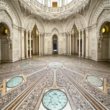 Laeacco Luxurious Palace Interior Photography Background Customized Photographic Backdrops For Photo Studio