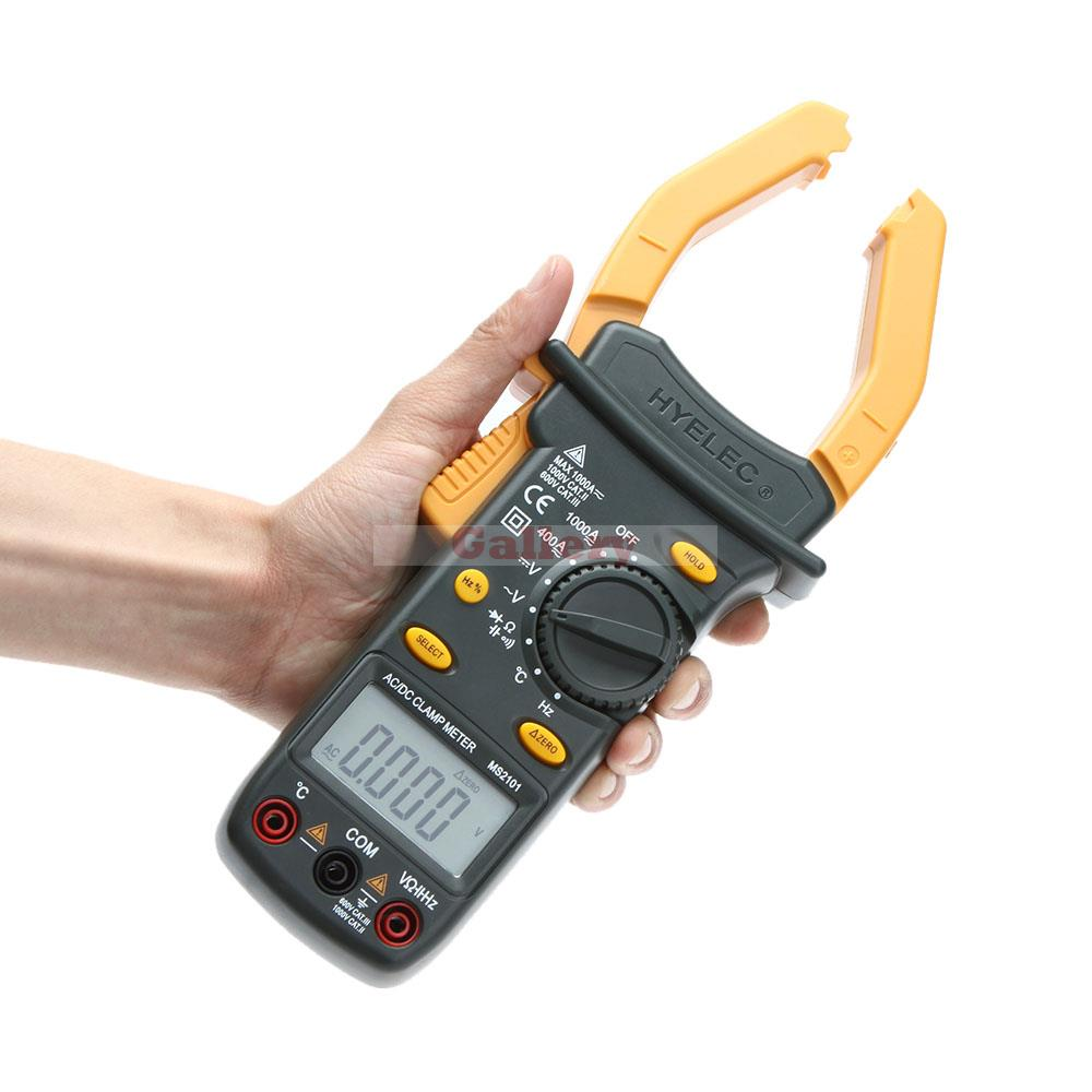 HYELEC MS2101 Auto Range AC/DC Current Voltage Digital Clamp Meter with Temperature Test ангельские глазки ваз 2101