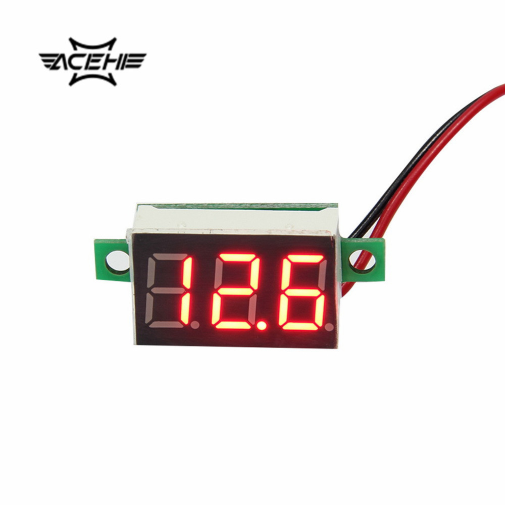 2 PCS ACEHE 4.5~30V Mini Digital Voltmeter Red LED Display Volt Meter Gauge Voltage LCD  Panel Meter DC Voltimetro Digital