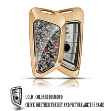 Car Key Cover Alloy Diamond Key chain Fit For BMW Series X1 X4 X3 X5 X6 E53 E70 E83 E90 F15 E46 Car Key Case Accessories