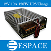 120W 12V Universal AC UPS Charge Function Monitor Switching Power Supply Input 110 220v Battery Charger