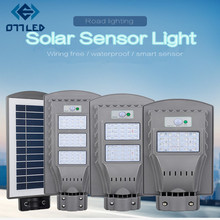 20W 40W Solar Led Sensor Light Street with Motion Waterproof Wall Lamp Garden Pole Plaza