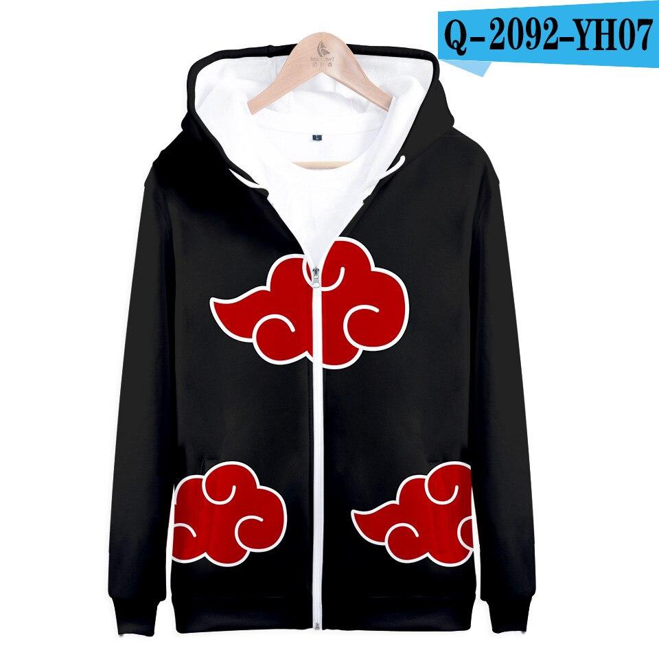 Hokage Ninjia Naruto0 Hoodie Mens Hooded Sweater 3D Printed Zip Pullovers Coats