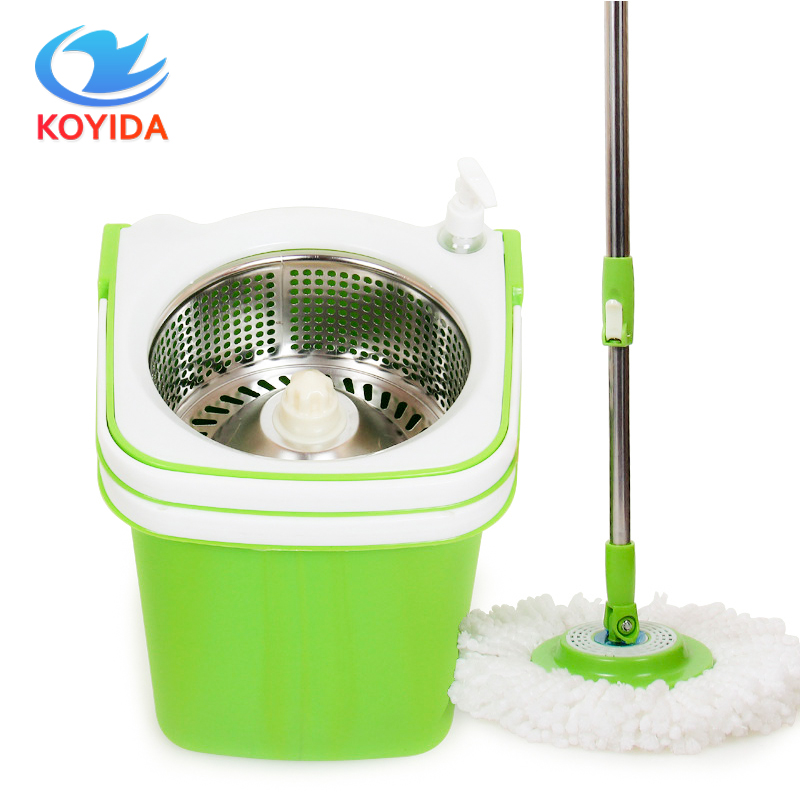 KOYIDA Multifunction 360 Rotating <font><b>Mop</b></font> Portable Magic Double Drive Stainless Steel Spinning <font><b>Mop</b></font> Bucket Household Floor Cleaning