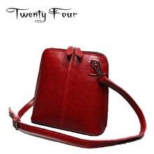 Veinticuatro de Lujo de Diseño Genuino Femenino de Cuero bolsa de Hombro Estilo Casual Bolsas de Conchas Con Solid Bolsos De Señora Mochila
