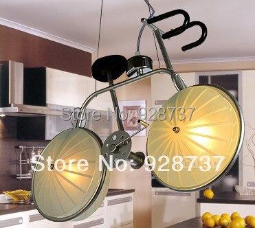 Kids bike bicycle lights cartoon pendant light boys bedroom lights