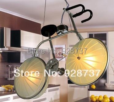 Wonderful Kids Bike Bicycle Lights Cartoon Pendant Light Boys Bedroom Lights Child Light  Lamps
