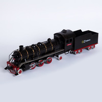 Vintage Iron Steam Locomotive Railway Guerrillas Train Model TV Cabinet Bookcase Entrance Decoration Bar Clothing Display