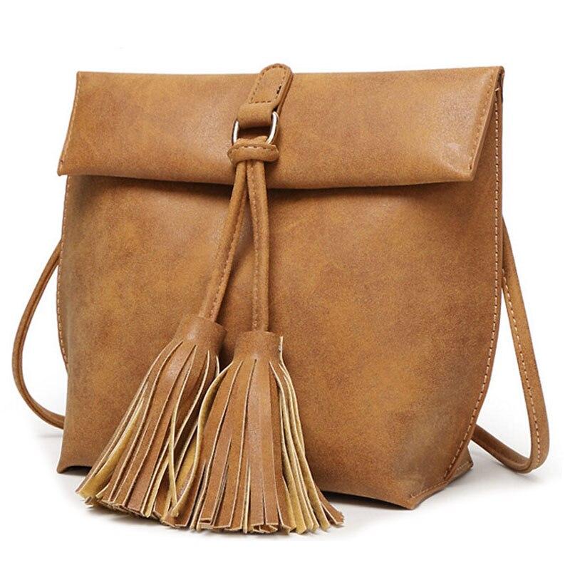 5 pcs of BEAU women messenger bags famous brands women leather handbag shoulder bag ladies tassel bag