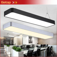 Modern Aluminum LED Chip Pendant Lights Hanging Wire Strip Lighting Fixture for Office Conference Room Study Lamp Silver/Black