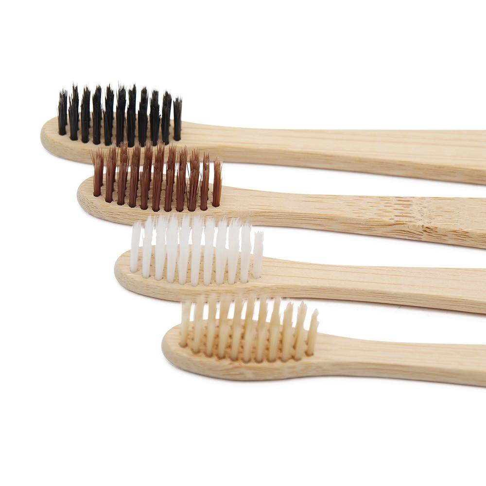 8 PCS Adult Environmentally Wood Toothbrush Novelty Bamboo Toothbrush Capitellum Bamboo Fibre Wooden Handle