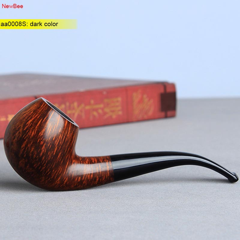 Wooden Bent Tobacco Pipe with 10 Tools Set