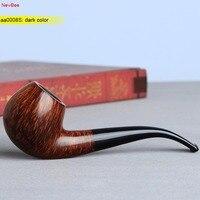 NewBee 10 Smoking Tools Kit Imported Briar Wood Handmade Filter Bent Smoking Pipe With Pipe Rack
