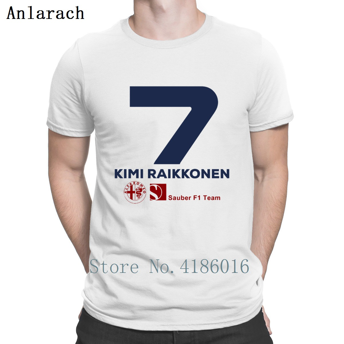 Kimi Raikkonen Sauber F1 2019   T     Shirt   Quirky Personality Streetwear Leisure Hip Hop Summer Style Mens Fashion Humor Fit