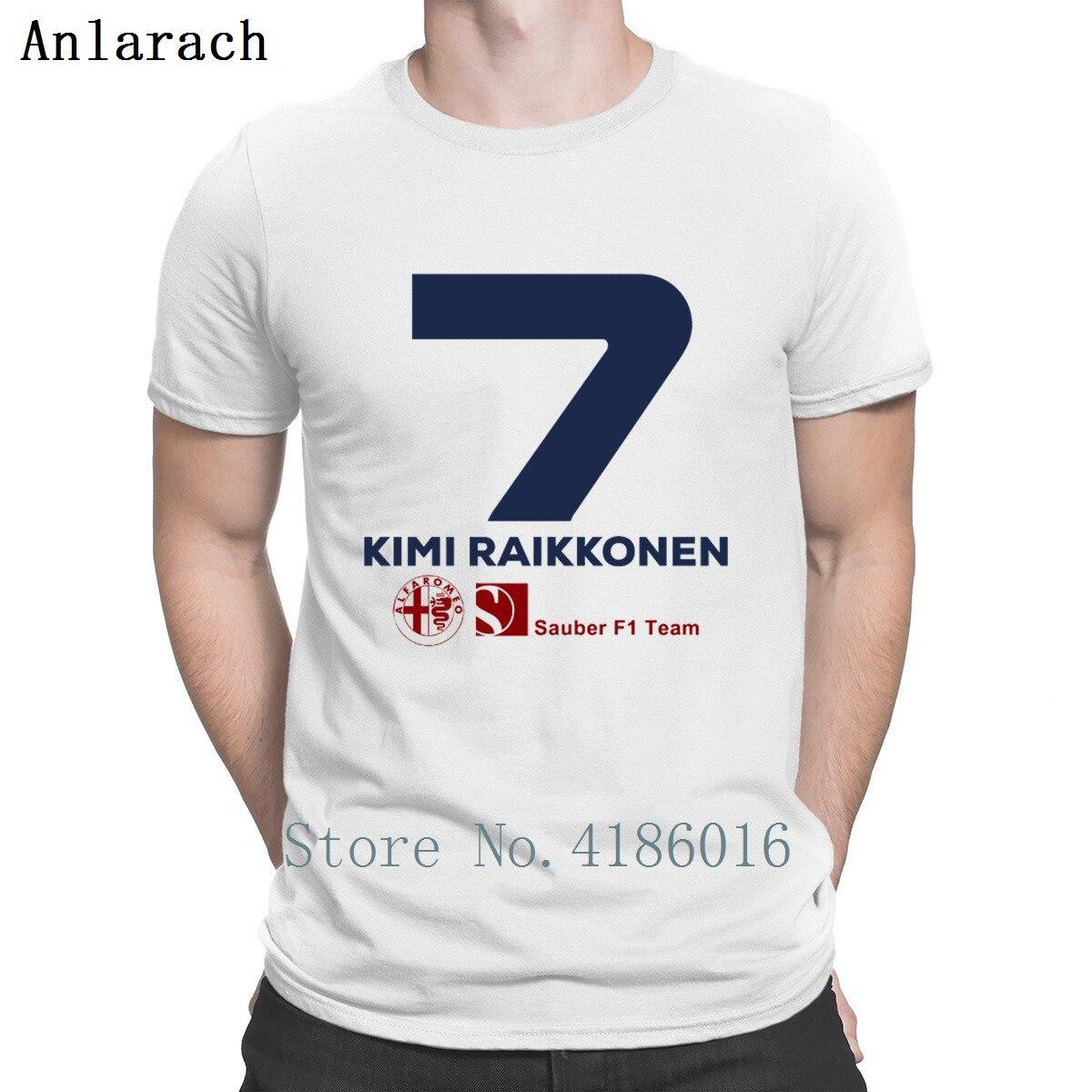 Kimi Raikkonen Sauber F1 2019   T     Shirt   Quirky Personality Streetwear Leisure Hip Hop Summer Style Mens Fashion Humor Fit