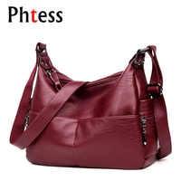 2019 Women Vintage Messenger Bags Female Leather Crossbody Shoulder Bags Sac a Main Ladies Luxury High Quality Bag Long Strap