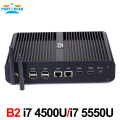 Mini PC i7 Broadwell-U 5500U Processor Fanless Mini PC Computer Support Windows 10 With 4K Resolution Dual LAN