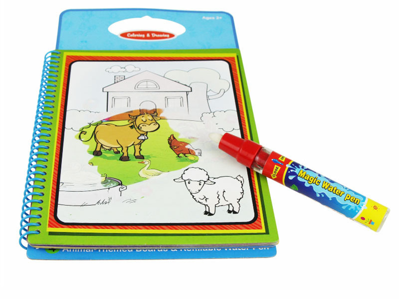 10 pcs new arrives magic kids water drawing book with 1 magic pen intimate coloring - Drawing Books For Kids
