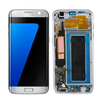 ORIGINAL 5.5\'\' AMOLED Display with Burn Shadow image for SAMSUNG Galaxy S7 edge G935 G935F LCD with Frame Touch Screen Digitizer