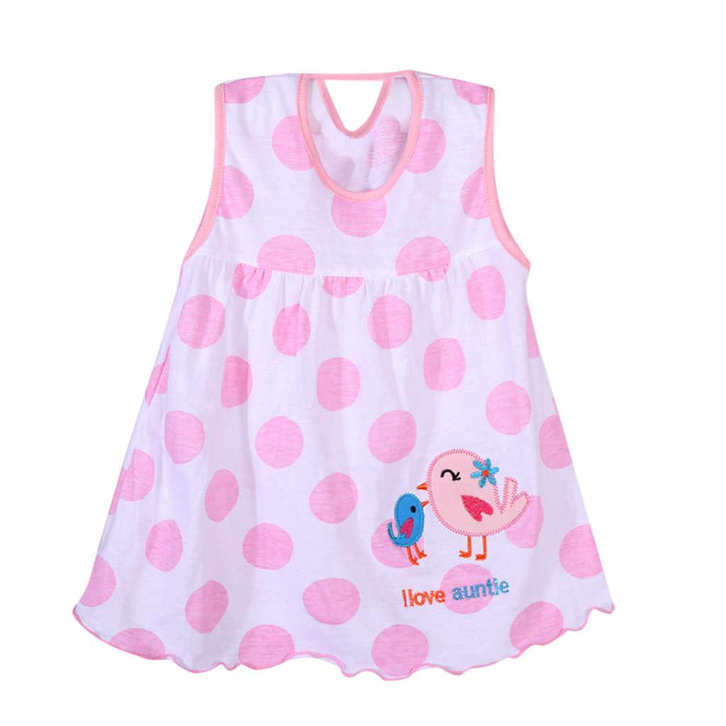 Vestidos para niñas pequeñas bebé recién nacidas SAGACE, vestido estampado sin mangas con lunares bonitos, vestidos para niñas pequeñas y bebés