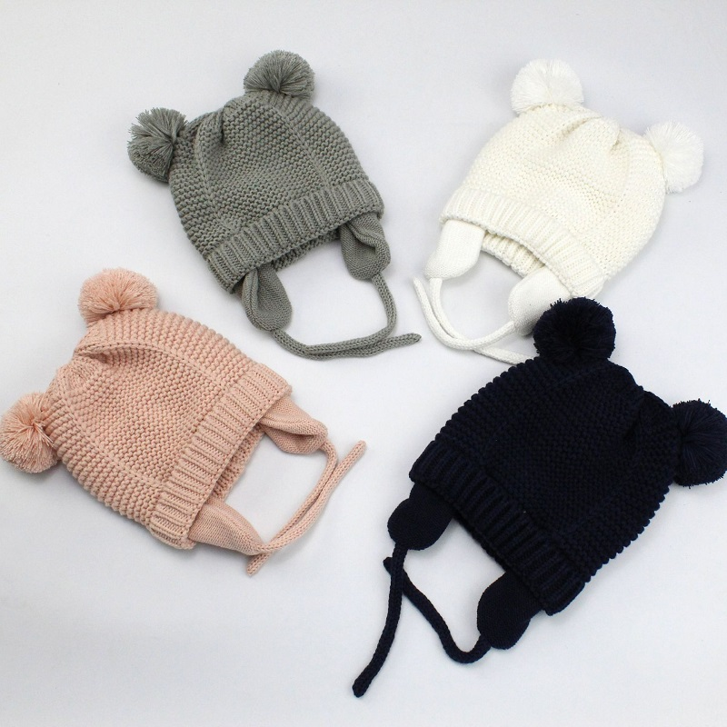 3 Sizes Baby Hats 0-2 Years Boys Girls Hats Kids Winter Hats Bonnet Enfant Hat For Children Baby Muts Dropshipping KF744