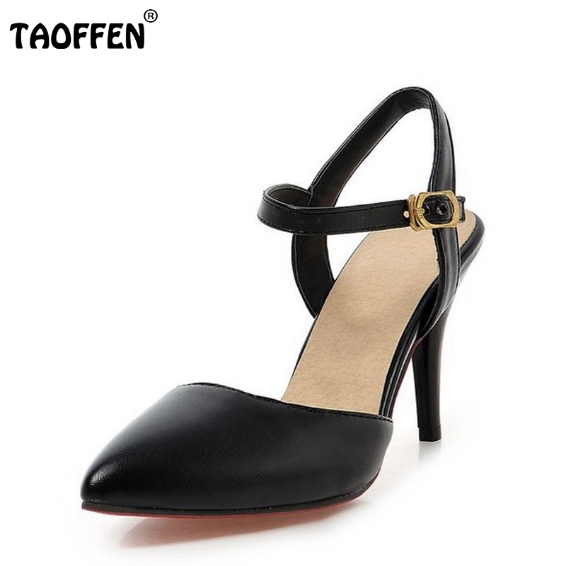 ladies high heel sandals sexy women spring summer autumn brand concise fashion pointed toe footwear shoes size 31-43 P22550 new 2017 spring summer women shoes pointed toe high quality brand fashion womens flats ladies plus size 41 sweet flock t179