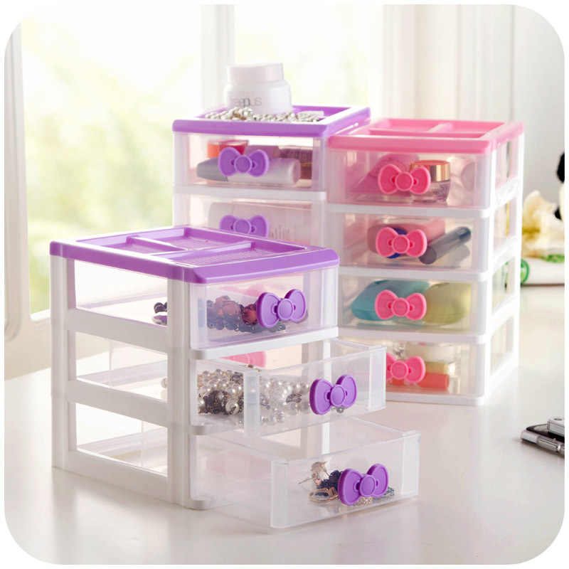 Butterfly princess drawer desktop storage box multi - layer color storage cabinet small objects jewelry finishing box