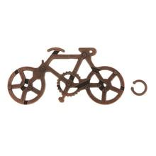 Nueva cerradura de bicicleta clásica de aleación de Zinc, rompecabezas IQ Mind, juguetes educativos para escuela preescolar para juguetes para niños y adultos, regalo creativo