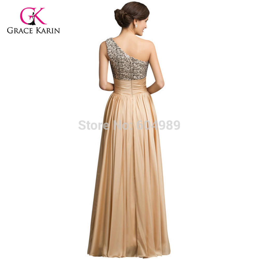 Real Sample 2018 Sequins Long Prom Dresses Gold Gowns Satin A line ...