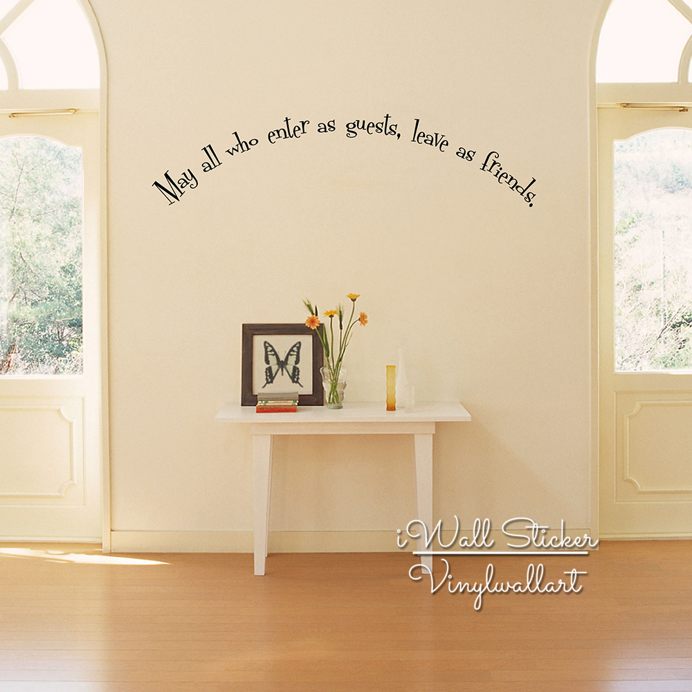 online get cheap wall quote family friends aliexpress com family quote wall sticker enter as guests leave as friends quote wall decal door quotes easy