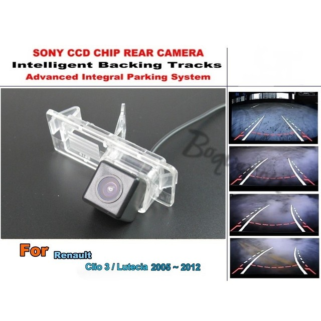 Para Renault Clio 3/Lutecia 2005 ~ 2012 Faixas Inteligentes Chip de Câmera/CCD HD Câmera de Visão Traseira Do Carro de Estacionamento Inteligente Dinâmica