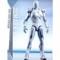Мстители: Бесконечность ВОЙНЫ ЖЕЛЕЗНЫЙ ЧЕЛОВЕК супергероя 1:6 MK7 Тони Старк ПВХ фигурку Коллекционная модель игрушки L2228