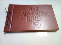 2018 Album Photo Coin Holder Debossed Our Adventure Book, Leatherette Covers With Genuine Leather Strip Bind ( Light Pages)