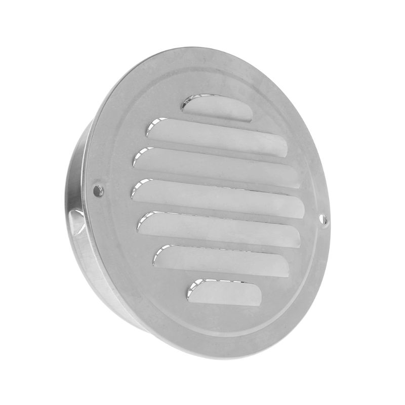Stainless Steel Exterior Wall Air Vent Grille Round Ducting Ventilation Grilles 70mm,80mm,100mm,120mm,150mm,160mm,180mm,200mm 3