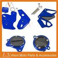 BLUE Front Sprocker Oil Filter Starter Motor Cover Plastic Kits Frame Protection For KAWASAKI KLX250 KLX