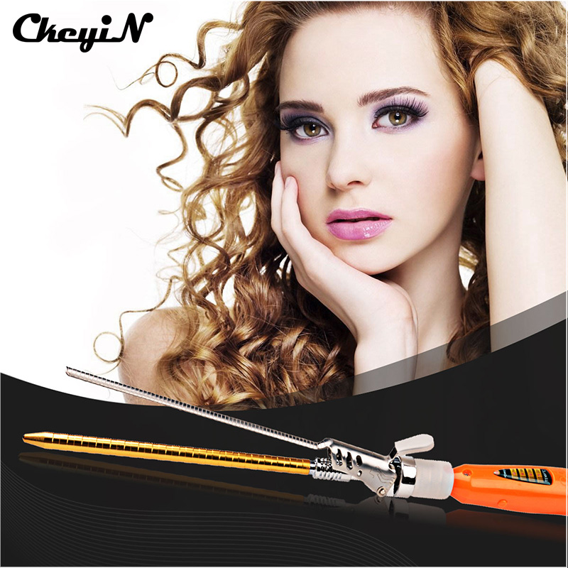 Professional 9MM Deep Curly Hair Styler Curls Ceramic Curling Iron Wand Wave Machine Spiral Hair Curler Electric Styling Tool 42 winhonors deep curly hair styler curls ceramic curling iron fashion wand curler pear hair curlers high quality curling wand