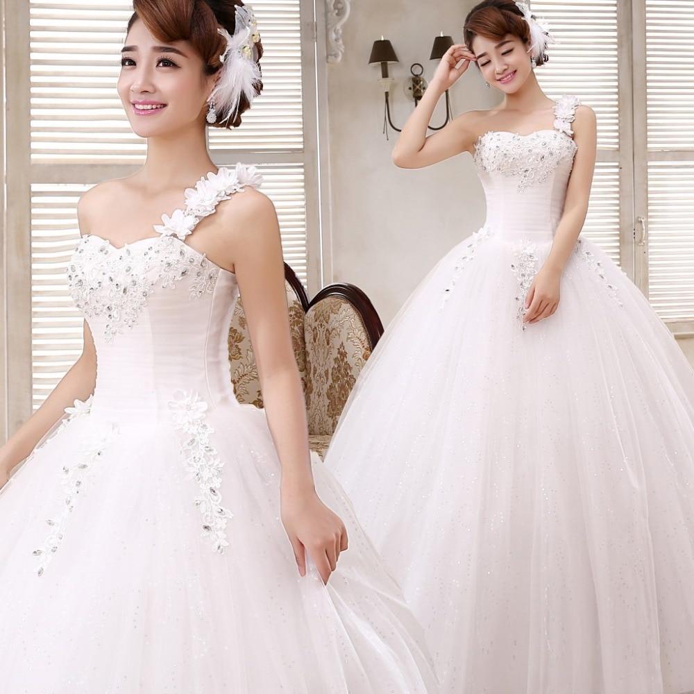 White lace apron wedding - Free Shipping New 2016 Wedding Dresses White Bride Wedding Frocks Princess Fashon Gowns Lace Up Bridal