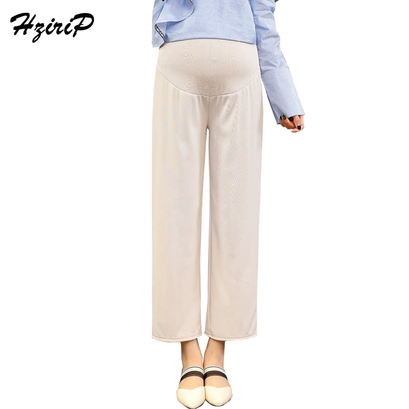 HziriP New 2018 Spring Summer Female Pants Fashion Ankle-length Pants Casual for Pregnant Women Belly Pants Maternity Clothing